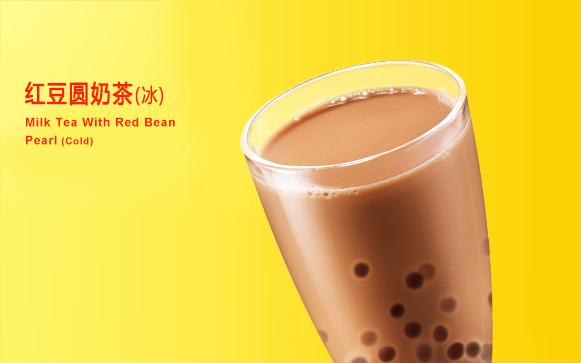 红豆圆奶茶