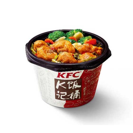 肯德基老坛酸菜鸡块饭
