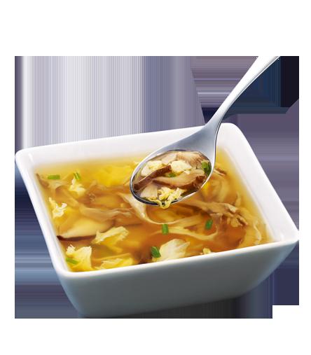 蛋花菌菇汤